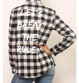 "Shirt ""break the rules"""