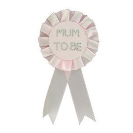 Roze Mum To Be Rosette Badge