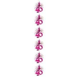 40e Verjaardag Roze Cascade Slinger