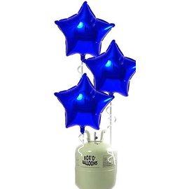 Helium Tank met 20x Blauwe Ster Helium Ballonnen