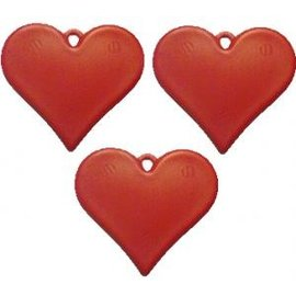 Rood Plastic Hartvormig Ballongewicht