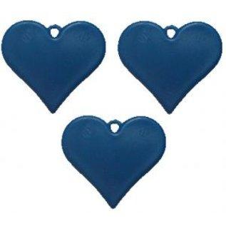 Blauw Plastic Hartvormig Helium Ballongewicht