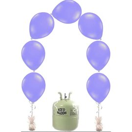Heliumfles met 25x Paarse Knoopballonnen Ballonboog