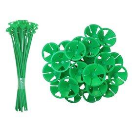 10x Groene Ballonstokjes
