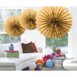 Gouden Honeycomb Waaiers Paper Fans