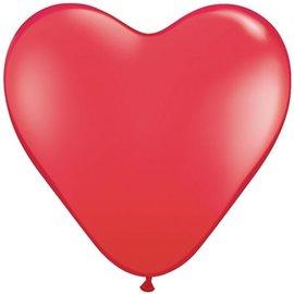 Rode Hartjes Ballonnen 10 Stuks