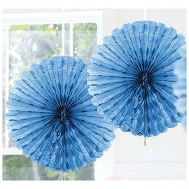 Lichtblauwe Honeycomb Waaiers Paper Fans