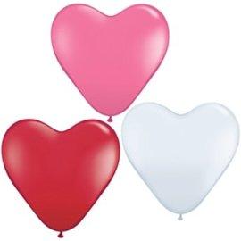 10x 10inch Hartjes Ballonnen