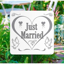 Just Married Tuinbord
