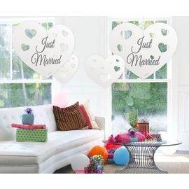Just Married Hartjes Hangdecoratie