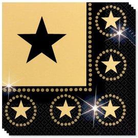 Star Attraction Zwart Gouden Servetten