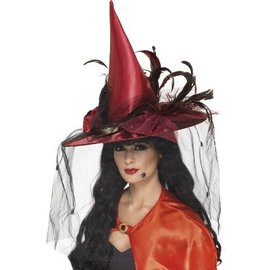 Luxe Rode Heksenhoed