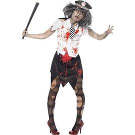 Zombie Politie Halloween Kostuum