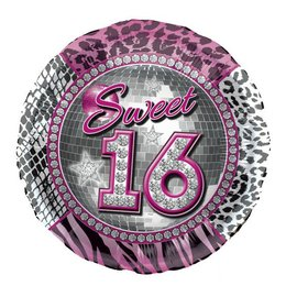 Sweet 16 Ronde Folieballon