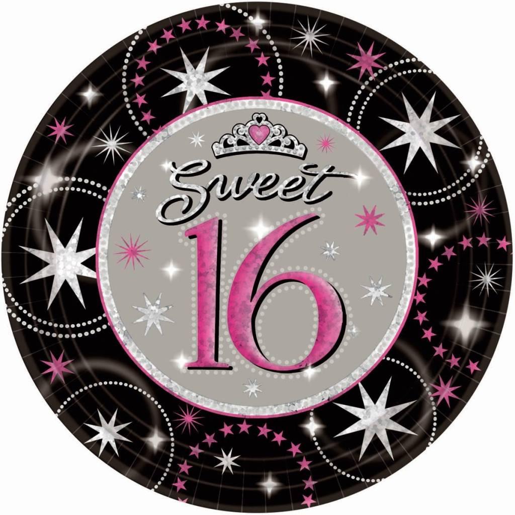 Sweet 16 borden 16 jaar verjaardag - Feestperpost