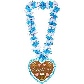 Blauw Witte O'Zapft Oktoberfest Krans