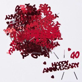 Ruby Happy Anniversary 40 Confetti