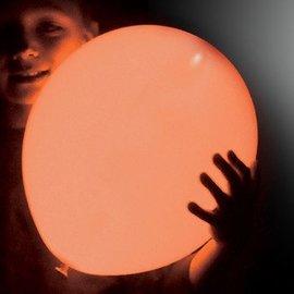 5x Oranje Lichtgevende LED Ballonnen