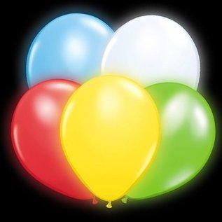 5x Gekleurde Lichtgevende Illoom LED Ballonnen