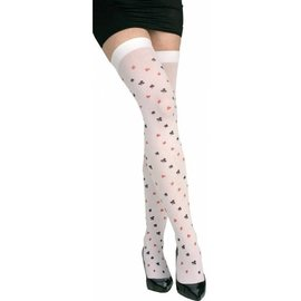 Thigh High Speelkaarten Kousen