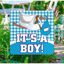 It's a Boy Geboorte Tuinbord