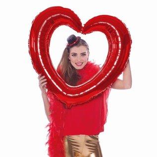Rode Fotolijst Hartvormige Folieballon