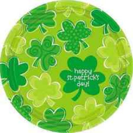 18x Happy St. Patrick's Day Shamrock Borden