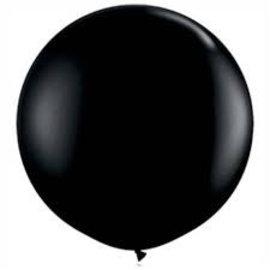 Zwarte 90cm Grote Top Ballon