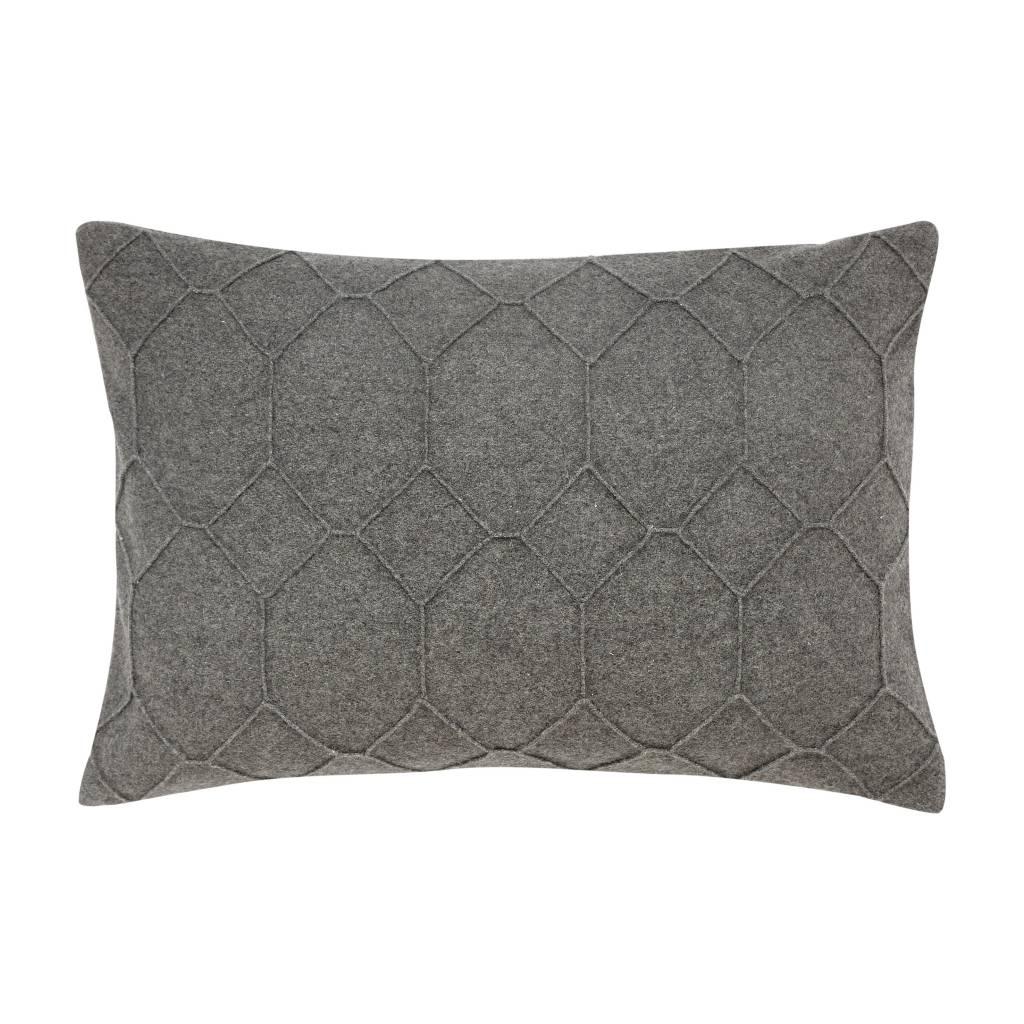 Hubsch Hübsch kussen grijs wol (40 x 60 cm)