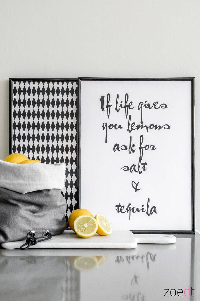 Zoedt Zoedt poster if life gives you lemons