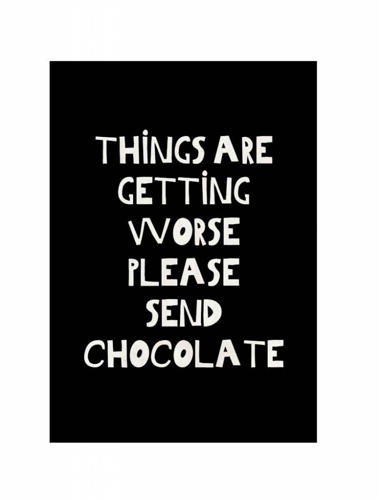 Zoedt Zoedt houten kaart chocolate