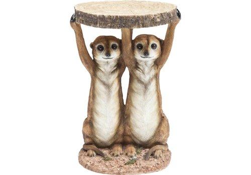 KARE Kare Side Table Animal Meerkat Sisters