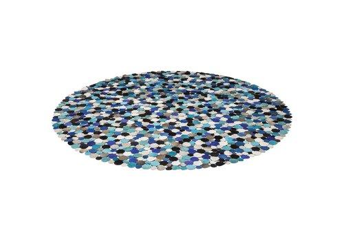 KARE Kare Carpet Circle Multi Blue  Ø250