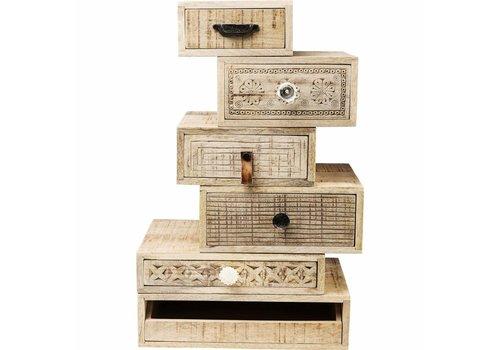 KARE Drawer Tower Puro (6/Set)