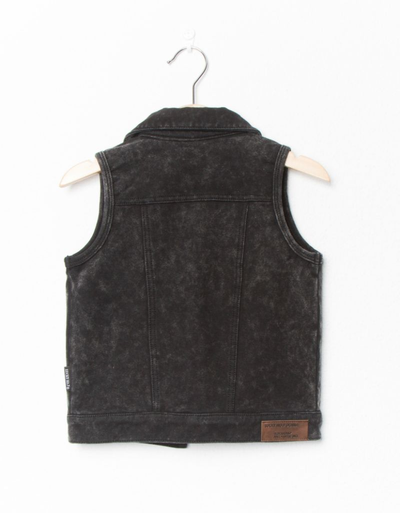 Lucky No. 7 Lucky No.7 Marble jog denim gilet - Limited edition
