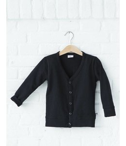 Lucky No. 7 Little black cardigan