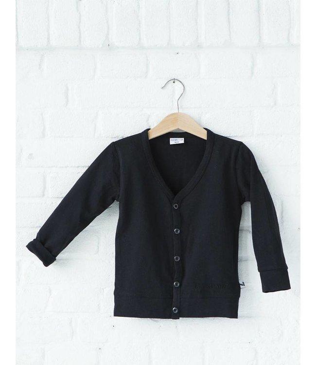 Lucky No. 7 Little black cardigan