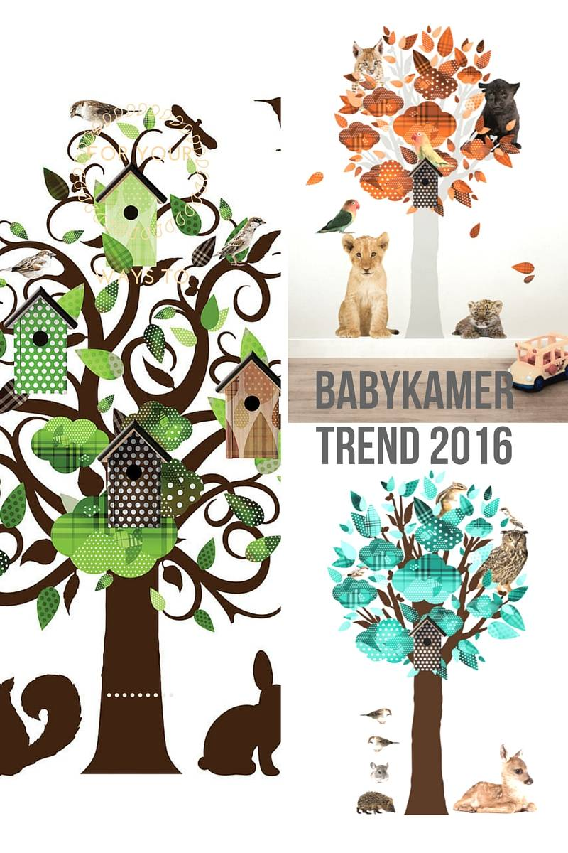 Muursticker boom een echte trend op de babykamer