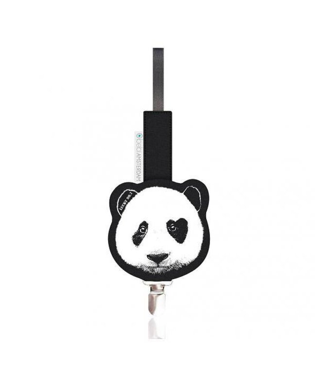 Lucky No. 7 Panda Pacifier clip