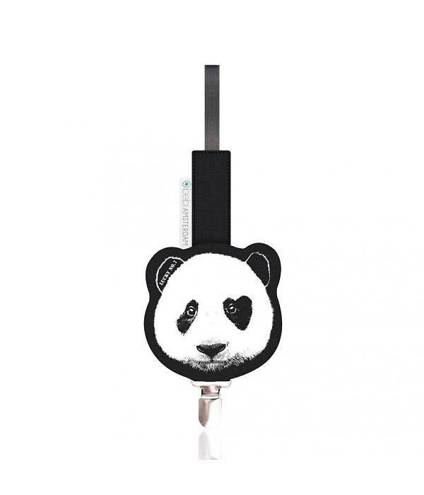 Lucky No. 7 Panda Pacifier clip