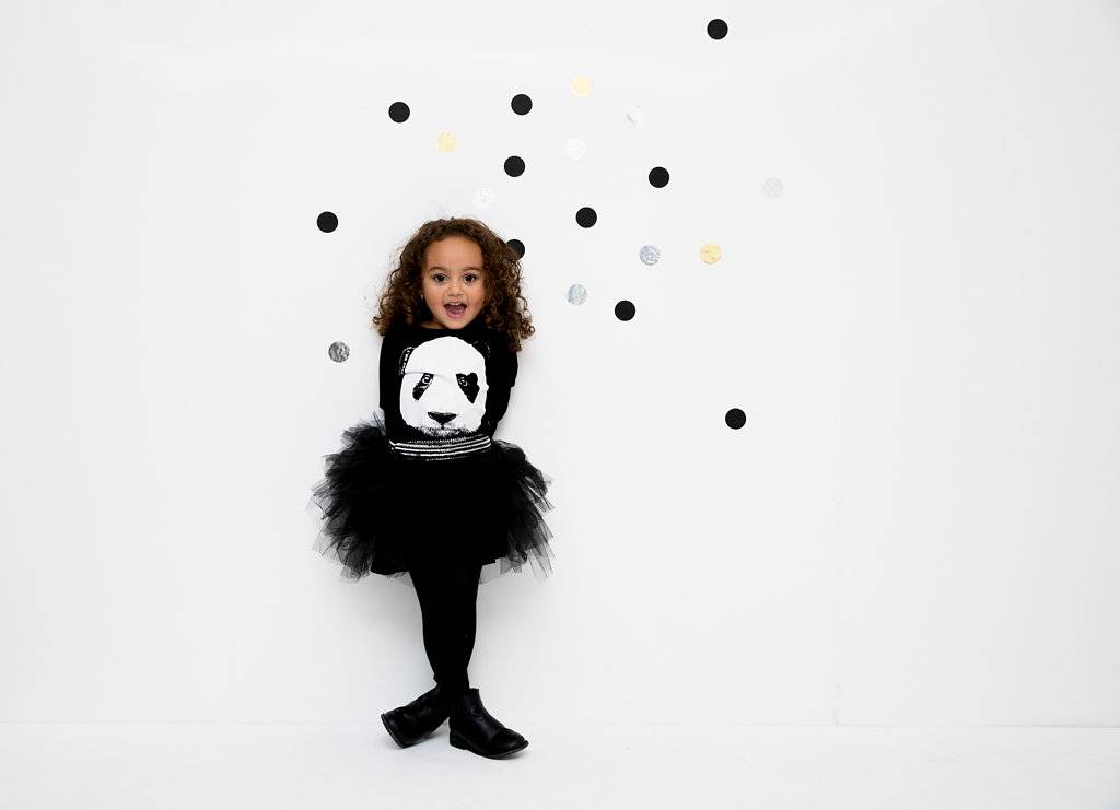 Lucky No. 7 Lucky No.7 Panda Tutu dress