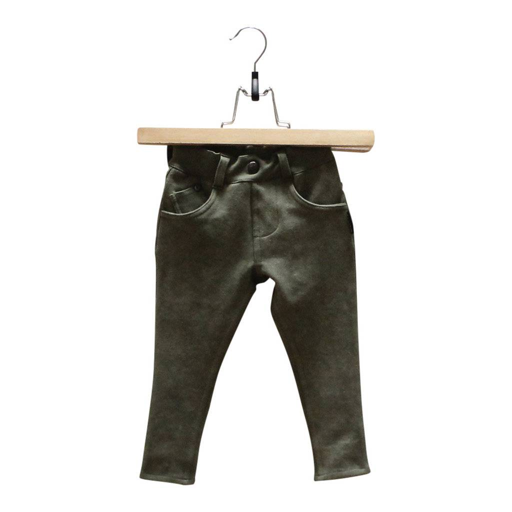 Lucky No. 7 Lucky No.7 Army green jogdenim pants