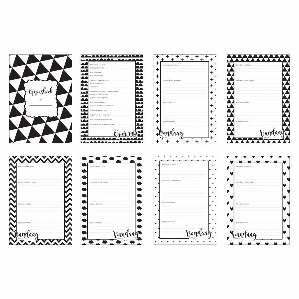 Mamakaart Oppasboek Monochrome