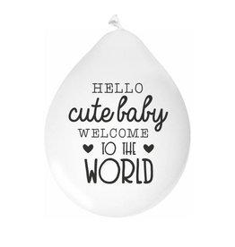 Mamakaart Ballonnen Hello Cute Baby