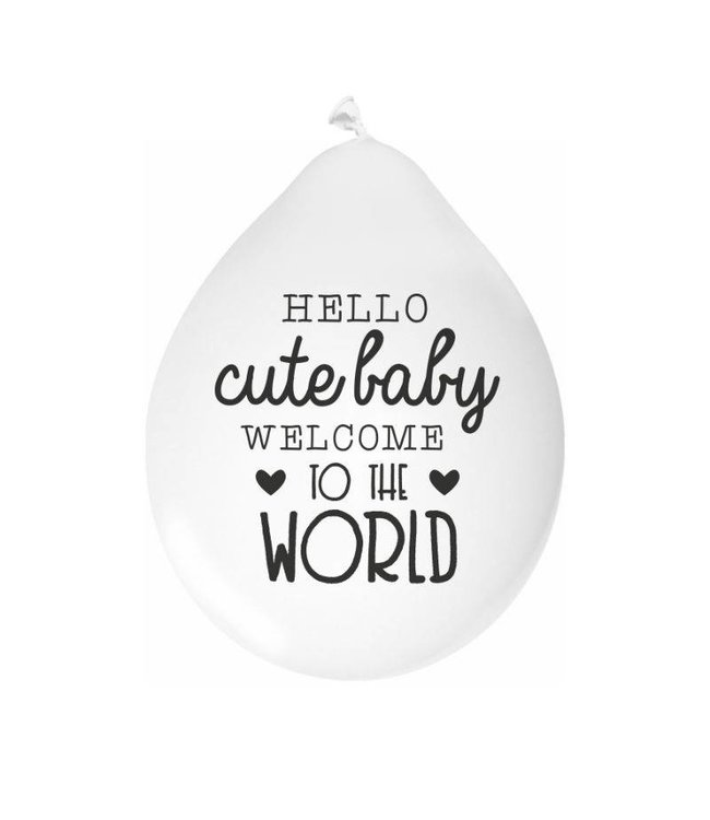 Mamakaart Mamakaart Ballonnen Hello Cute Baby