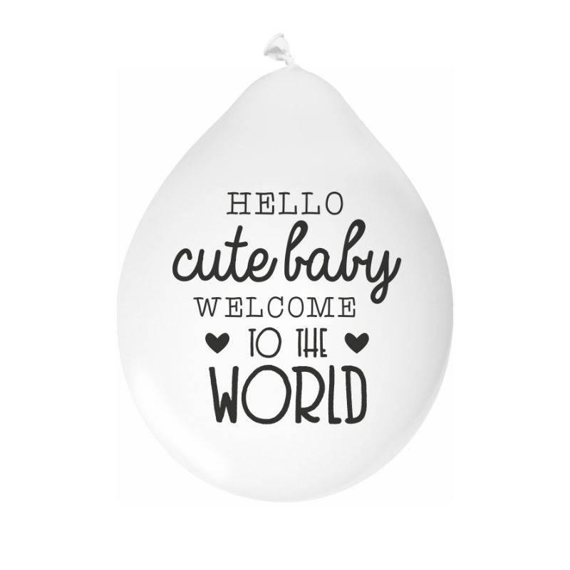 Mamakaart Ballone Hallo nette Baby-