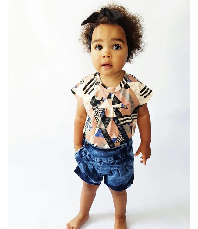 Small Rags Small Rags Soft denim shorts