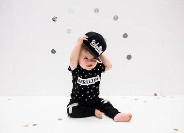 Zwart wit babykleding