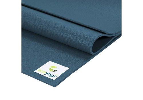 Ecoyogi Studio yoga mat Blauw - Extra lang