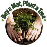Koop een yoga mat plant een boom